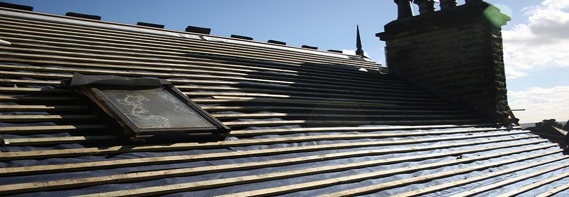 Full strip and recover of slate roof in Bramley Leeds